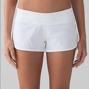 lululemon athletica speed shorts white size 4